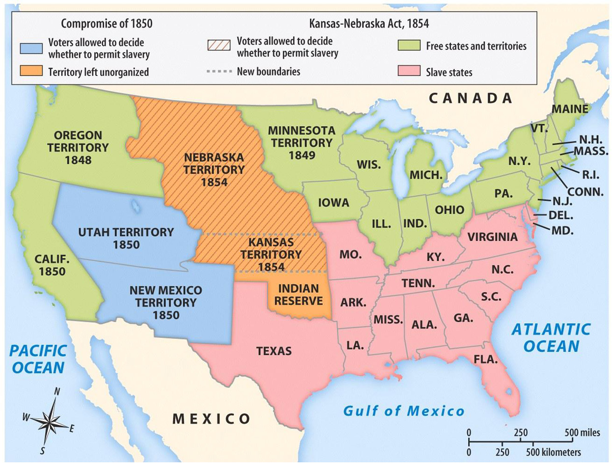 Activities For Lesson The United States In Map - Map of the us 1850